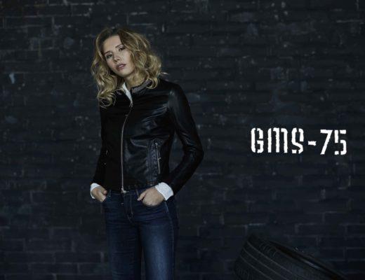 modella Alena Mayuk per shooting giacche Gimos