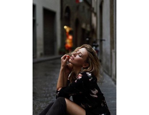modella per shooting street fashion Firenze