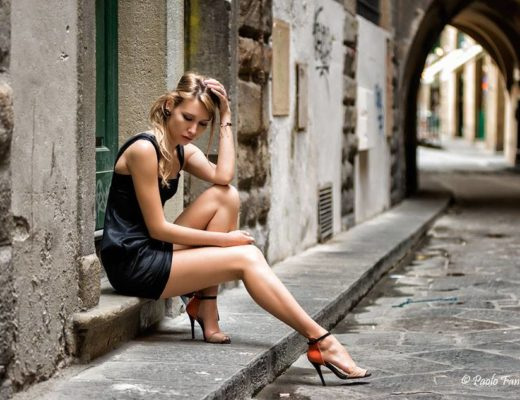 Street Fashion Shooting a Firenze con modella Alena Mayuk