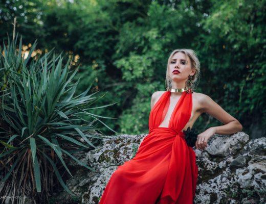 Vestito Rosso Fashion Shooting Firenze