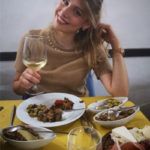 a cena in un ristorante a Cagliari