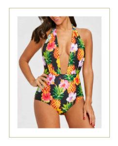 Costume intero ananas tropicale