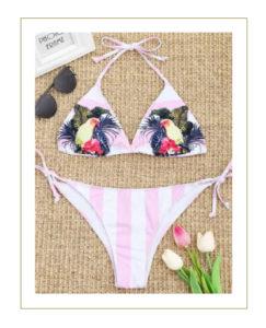 Bikini rosa tropicale