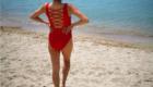 una ragazza in Spiaggia di Campus